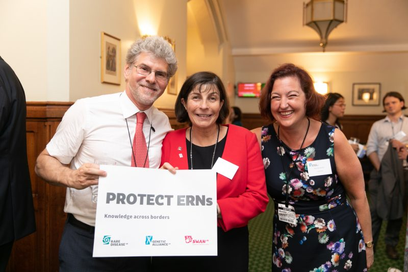 Professor Scarpa and #ProtectERNs sign