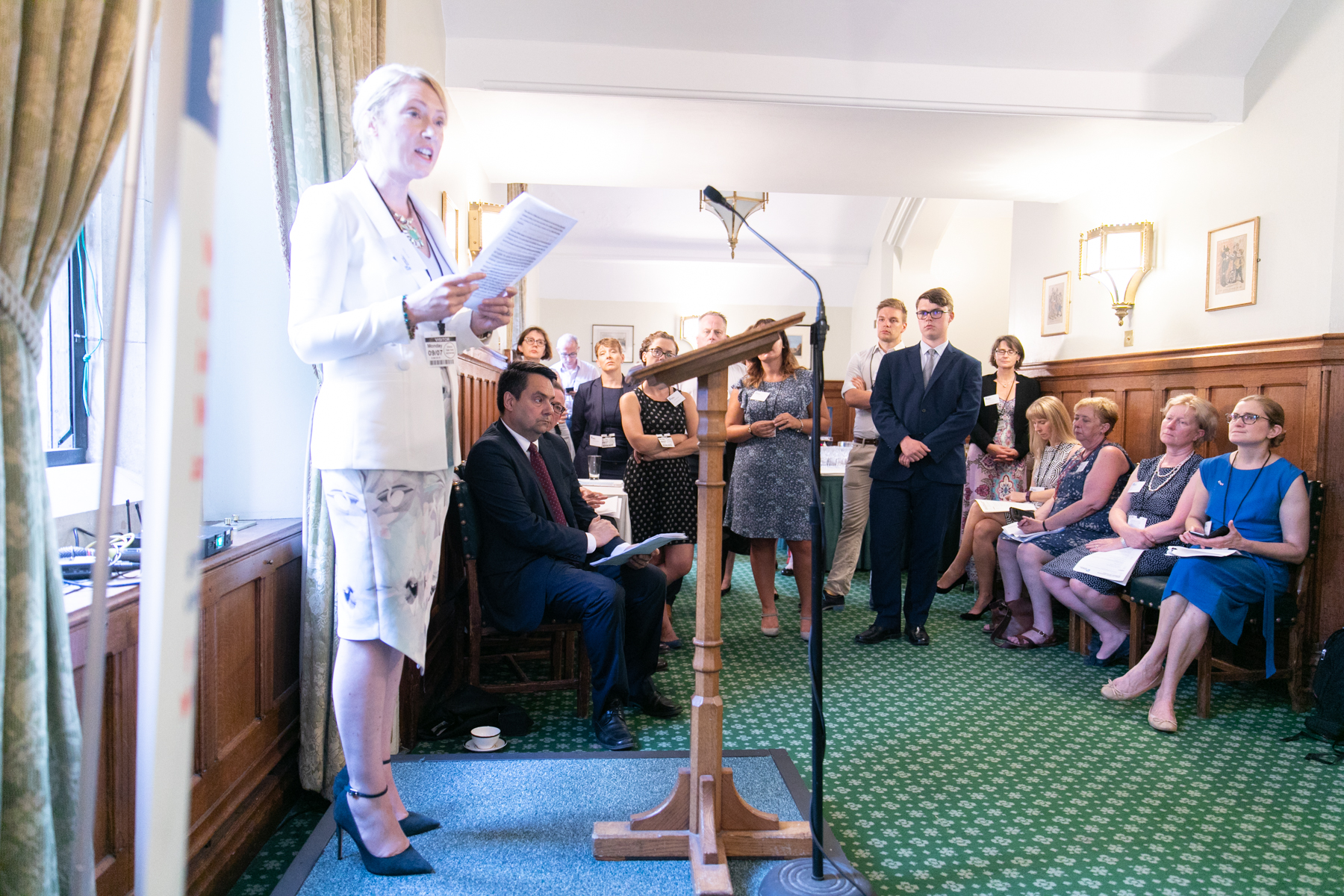 Avril Daly giving speech